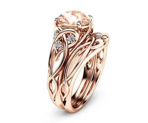 etsy, gemstone rings, and rosegoldrings image