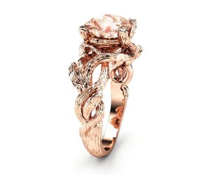 diamond ring, etsy, and rose gold ring image