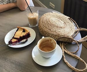 aesthetic, cake, and coffe shop image