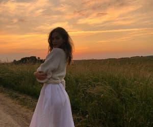 fashion, girl, and sunset image