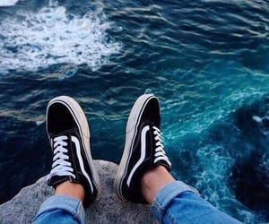 vans, sea, and ocean image