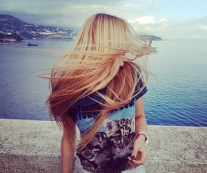 blonde, long, and caption image