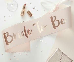 bride, pink, and wedding image