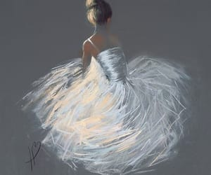 art, ballerina, and painting image