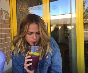 girl, yellow, and lemonade image