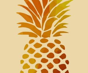 fruit, painting, and pineapple image