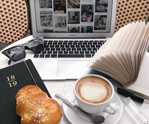 aesthetic, bread, and coffee image