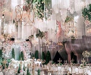 bride, chandelier, and dance image