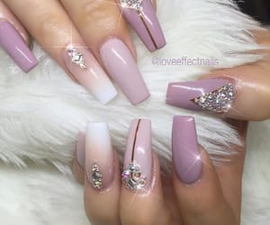 beautiful, nude color, and long nails image