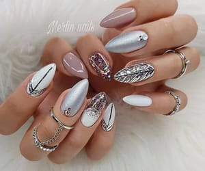 nails, art, and manicure image