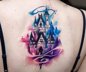 castle, color, and disney image