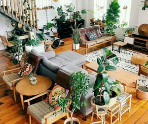 boho, interior design, and living room image