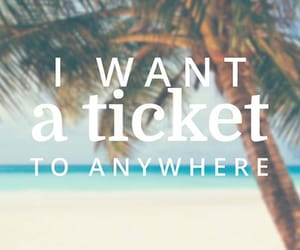 ticket, travel, and beach image
