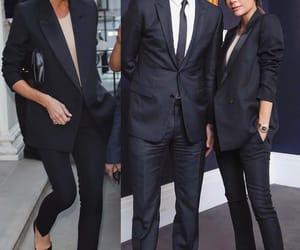 black suit, fashion, and victoria beckham image