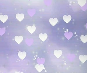 heart, pastel, and purple image