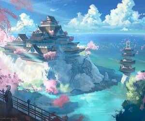 anime, cloud, and sky image