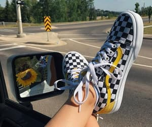 vans, yellow, and aesthetic image