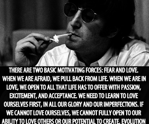 john lennon, love, and fear image