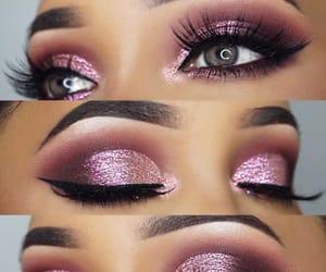 lashes, make up, and makeup image