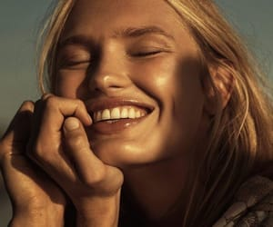 smile, model, and vogue image