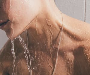 boy, water, and shower image