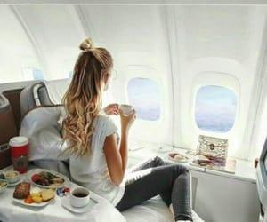 travel, luxury, and plane image