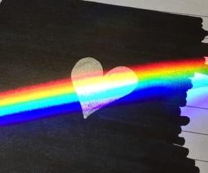 black, blue, and iridescent image
