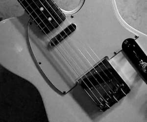 90's, black and white, and electric guitar image
