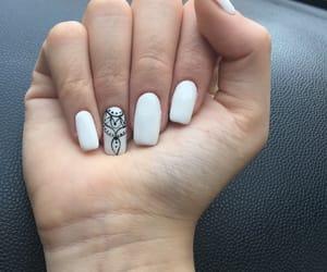 nailpolish, nails, and white image