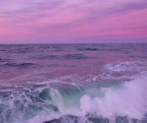 purple, ocean, and sky image