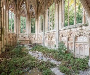 abandoned, nature, and church image