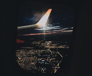 air, airplane, and city image