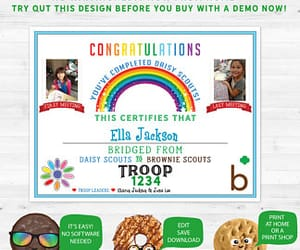 bridge, girl scout, and ceremony image