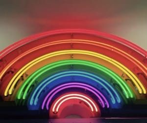 rainbow, colors, and neon image