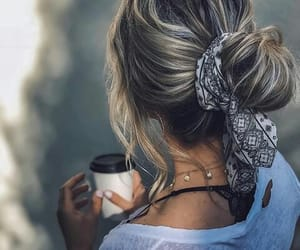 coffee, fashion, and hairstyle image