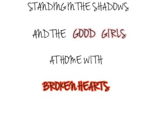 bad boys, broken hearts, and Lyrics image