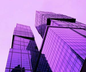 purple, aesthetic, and building image