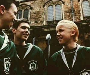 draco malfoy, slytherin, and hogwarts image
