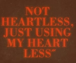 red, heart, and heartless image