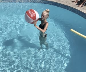 pool, volleyboll, and poolday image