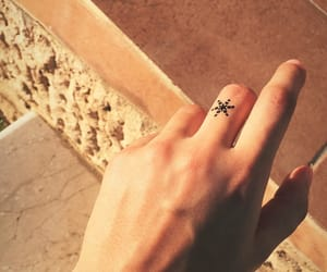 hands, summer, and tattoo image