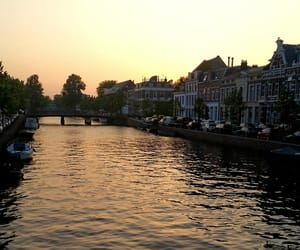 boat, canal, and holland image