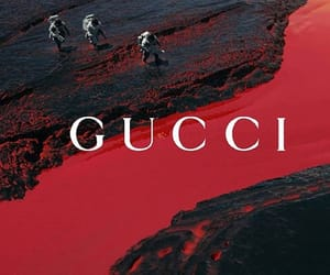 gucci, red, and theme image