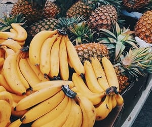 bananas, food, and beach image