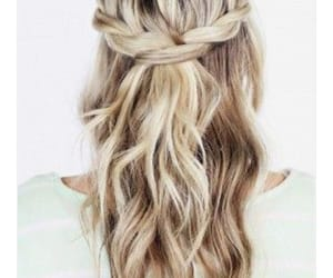 simple, coiffure, and cheveux blond image