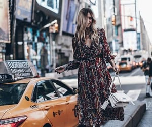 clothes, new york, and taxi image