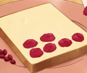 animated, anime food, and anime gif image