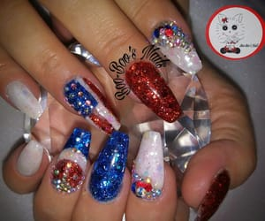flag, red white and blue, and red glitter image