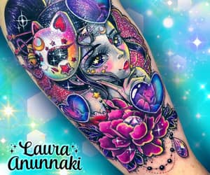 body art, cute, and colortattoo image