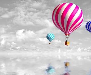 air, balloon, and Hot image